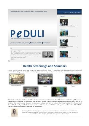 CAS Peduli Bulletin 01 2014 Q2