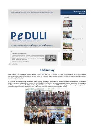 USG Peduli Bulletin 07  2015 Q2