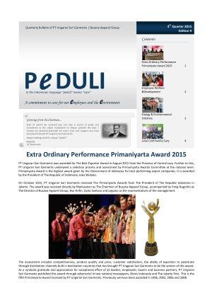USG Peduli Bulletin 09 2015 Q4