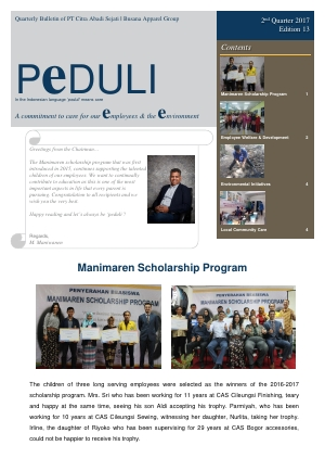 CAS Peduli Bulletin Edition 13