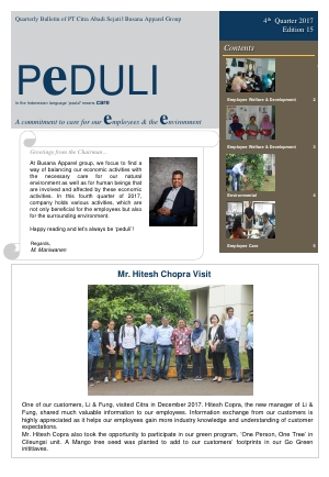 CAS Peduli Bulletin Edition 15