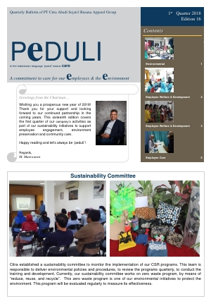 CAS Peduli Bulletin Edition 16