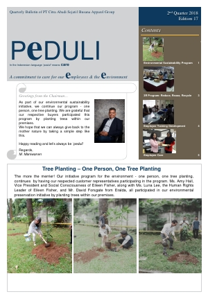 CAS Peduli Bulletin Edition 17