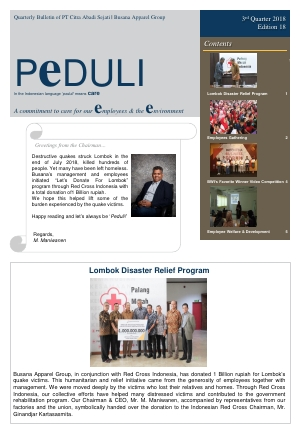 CAS Peduli Bulletin Edition 18