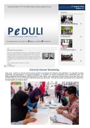 CAS Peduli Bulletin Edition 11