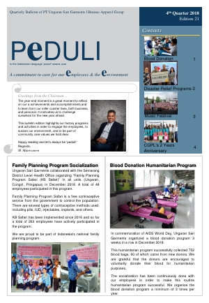 USG Peduli Bulletin Edition 21