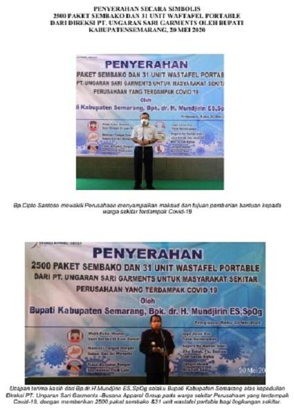 Dokumentasi Penyerahan Secara Simbolis Paket Sembako dan Wastafel Portabel