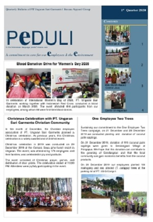 USG - PEDULI Edisi 1st quarter 2020 (English Version)